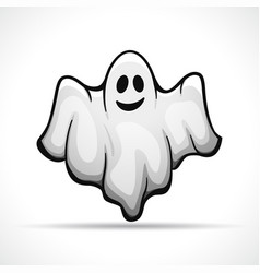 ghost on white background vector image