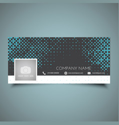 Halftone dots social media timeline cover vector
