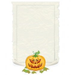 halloween template vector image