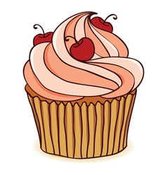 Hand drawn cupcakes vector