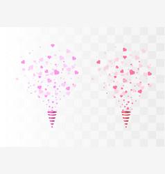 heart confetti burst vector image