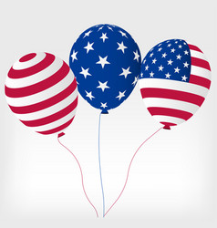 helium balls with symbols of the united states of vector image