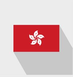 Hongkong flag long shadow design vector