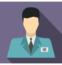HR manager icon flat style vector