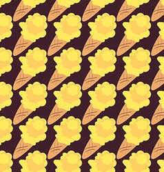 Ice Cream Seamless Pattern Sweet Background vector image