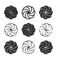 Icon set with armenian eternity sign arevakhach vector