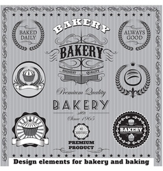icons for baking and bakery vector image
