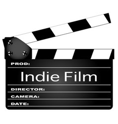 Indie film movie clapperboard vector
