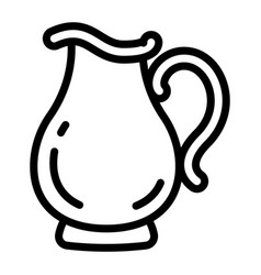 jug icon outline style vector image