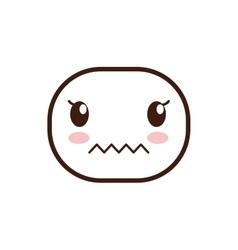 Kawaii cartoon expression icon graphic vector