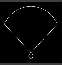 Location or radar the white path icon vector