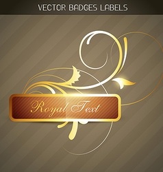 Luxuary label vector