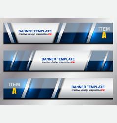 Modern banner template vector