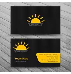Modern Business Cards Templates Set vector image