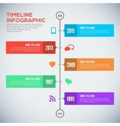 Modern timeline design template Infographic design vector image