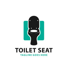 modern toilet seat product logo vector image