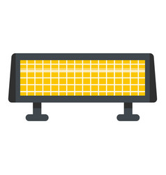 Panel heater icon flat style vector