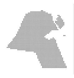 Pixel map of kuwait dotted map of kuwait isolated vector