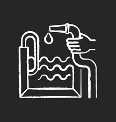 Pool construction chalk white icon on black vector