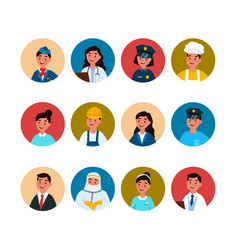 Profession avatar professional man and woman vector