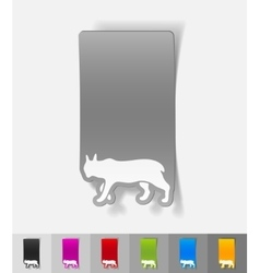 realistic design element lynx vector image