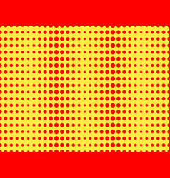red dots on a yellow background pop art pattern vector image