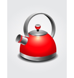 red kettle art vector image