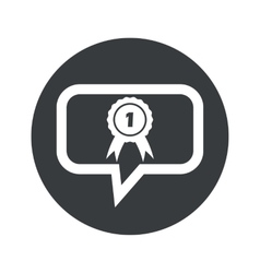 Round 1st place dialog icon vector