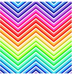 seamless rainbow chevron pattern vector image