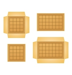 Set of open boxes vector
