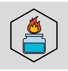 silhouette burner laboratory vector image