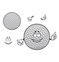 Smiling cartoon dimpled white golf ball character vector image