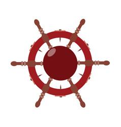 steering wheel in flat vector image