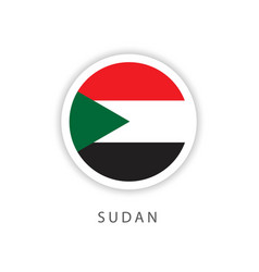 Sudan circle flag template design vector