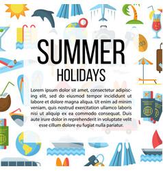 Summer holidays flat pattern vector