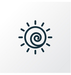 Sun icon line symbol premium quality isolated vector