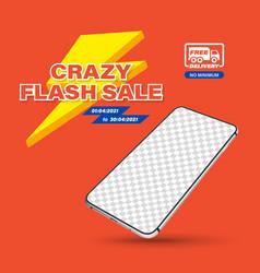 Template crazy flash sale vector