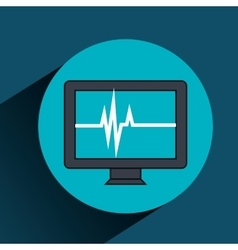 Test cardiology display isolated icon vector