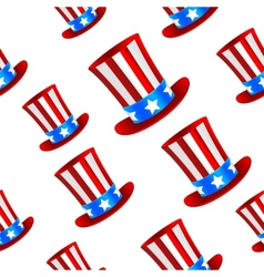 Uncle Sam hat background vector image