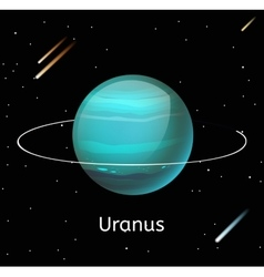 Uranus planet 3d vector image
