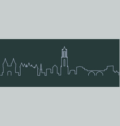 utrecht single line skyline vector image