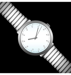 watch on black vector image