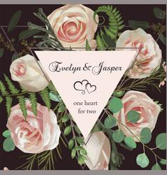 wedding square floral invitation invite card vector image