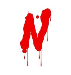 Wet Paint Font Type vector