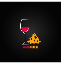 Wine and cheese design background vector