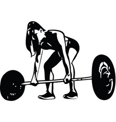 woman at gym abstract lines drawing vector image