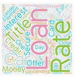 Car Title Loan text background wordcloud concept vector image vector image