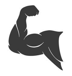 power muscle arm icon vector image