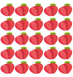 strawberry seamless pattern design vector image vector image