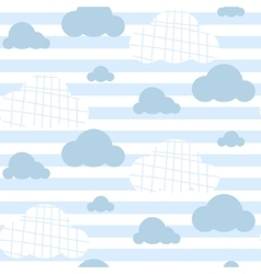 Baby boy seamless pattern Light blue fun vector image vector image